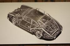 Porsche 356 Coupe PVC Grande Taller Bandera Taller Coche Muestra Bandera
