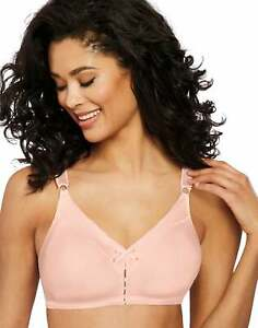 Bali Double Support Bra Cotton Wirefree Comfort U Back Stretch Full Figure 3036