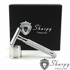 Sharpy Heavy Duty Double Edge Safety Razor Blades + FREE Stainless Steel Stand