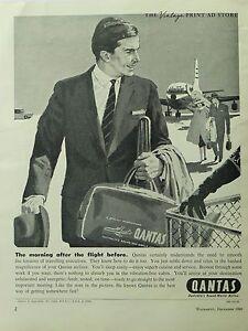 Original QANTAS 1960s Vintage Print Ad