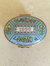 Halcyon Days Enamels 1990 A Year To Remember Trinket Box