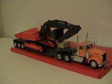 KENWORTH W900 BIG RIG WITH DIGGER CONSTRUCTION SERIES 1:32 SCALE DIE CAST