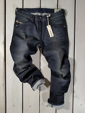 RRP $187 NEW DIESEL MEN'S JEANS W34 L34 BELTHER 0842Q REGULAR SLIM TAPERED
