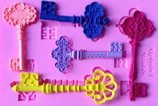 Fancy Keys 5 Cavity Silicone Mold for Fondant, Gum Paste, Chocolate, Crafts