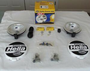 Hella Comet 500 Driving Lamp Set New Unused Twin Lamps all fittings original box