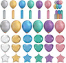 Qualatex Chrome Latex & Foil Balloons - Birthday Party Event Special Decorations