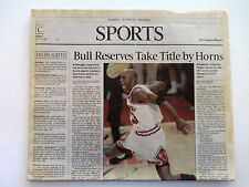 MICHAEL JORDAN AIR CHICAGO BULLS VINTAGE COLLECTABLE RARE BULLS WIN!!!