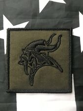 DEVGRU VIKING Black Embroidered Navy Seal Team Hook/Loop GREEN Patch
