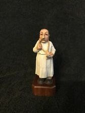 Anri Retired Rare Family Doctor General Physician Md Hand Carved Statue Italy