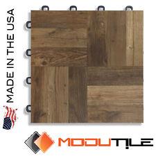 Basement Floor Tiles Antique Oak Wood Style - USA MADE - FREE SHIPPING