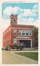 PALMYRA, Pennsylvania  PA   CITIZEN'S FIRE DEPARTMENT  Truck  c1920s    Postcard