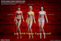 TBLeague 1/12 T03B Mid Breast Unpainted Head & Female Body Suntan Skin Figure