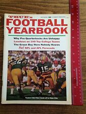 1967 True's Football Yearbook Green Bay Packers with Bart Starr Elijah Pitts