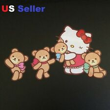 1 set Hello Kitty & Teddy Bear Car Sticker /Room / Window / LapTop/ iPad sticker