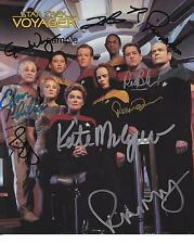 STAR TREK VOYAGER CAST REPRINT 8X10 AUTOGRAPHED SIGNED PHOTO PICTURE COLLECTIBLE