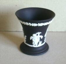 Wedgwood Jasperware Black Four Seasons Vase