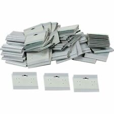 100 Gray Sterling Silver Flocked Hanging Earring Cards 2 X 2 Jewelry