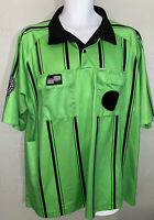 Green Official Soccer Jersey Size XL Soccer Federation Referee Program   G2035