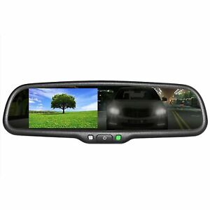 "OEM Rear View Mirror Kit - 4.3"" LCD Auto Dimming Rearview + HD Camera + Wireless"