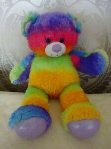 Build a bear Workshop Plush Teddy Bear Rainbow Sparkle