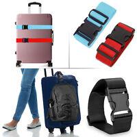 Useful Travel Luggage Suitcase Baggage Backpack Cross Strap Safe Reinforce Belt