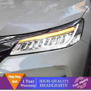 For Honda Accord Headlights ALL LED Beam Projector Full LED DRL 2016-2017