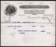 1918 Sacramento Ca - A A Van Voorhies & Co - Harness Saddles Collars Letter Head