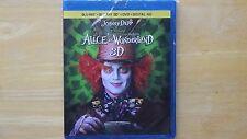 Disney ALICE IN WONDERLAND 2016 Blu-Ray+Blu-Ray 3D+DVD+Digital HD New Sealed