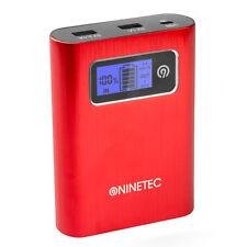 B-Ware NINETEC PowerDrive 128GB Flash Speicher 13.400mAh Power Bank Akku Rot