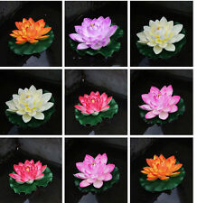 Artificial PE Foam Lotus Flowers Water Lily Floating Pool Plants Decor Ornament