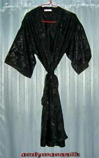 Thai Silk Kimono / Robe / Dressing Gown / Night Dress / Black / FREE POST