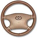 Land Rover Genuine Leather Steering Wheel Cover - All Models  Wheelskins WSLR
