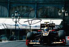Romain Grosjean main signé F1 2012 lotus-renault photo 12x8 7.