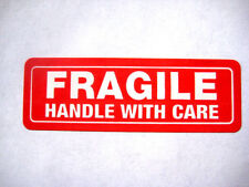 1000 1x3 FRAGILE Handle with Care Labels Stickers