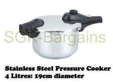 19cm/4l da Cucina in Acciaio Inox Pentola a Pressione Forte Maniglie ad Induzione 4 L