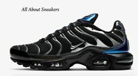 "Nike Air Max Plus ""Black/Deep Royal Blue"" Men's Trainers Limited Stock All Sizes"