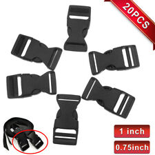 "20PCS Plastic Webbing Side Release Nylon Strap Buckles Clasp Craft 1"" 3/4"""