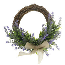 Artificial Lavender Flower Wreath Spring Summer Hanging Floral Garland Ring