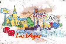 Art Postcard, Las Vegas, Nevada, USA, Landmarks, City, View, Travel 27J