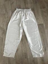 pantalon beige satiné orientale femme taille  40/42