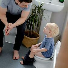 Real Potty Training Toilet with Flush Button & Sound for Toddlers & Kids, White