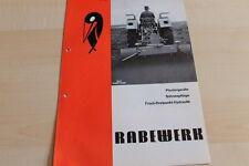 144683) Rabewerk Planiergeräte Schneepflüge Prospekt 03/1972