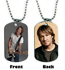 DOG TAG NECKLACE - Keith Urban #SN1 Country Singer USA Jewelry pop bead chain