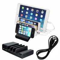 Universal 4 USB Multi-Port USB Charging Station Travel Wall Charger Desktop