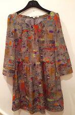 Diane Von Fustenberg Cotton Shift Dress Size 2 US/ 6 Uk