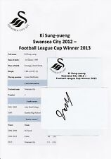 KI SUNG-Yuengling Swansea City 2012-original hand signed Coupe/Carte