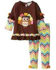 Rare Editions Girls Chevron Thanksgiving School Fall Outfit 2T