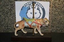 """*RARE* CYBIS PORCELAIN FIGURINE """"CAROUSEL TIGER"""" LIMITED EDITION #490 OF 500"""