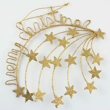 Metal Gold Shooting Stars Christmas Ornament Holiday Decoration