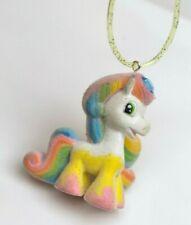 PONY Flocked 90s Rainbow Rave Kawaii Upcycled Necklace Choker Pastel Goth